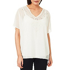 Windsmoor - Ivory Cutout Detail Top