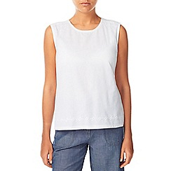 Dash - White Woven Jersey Top