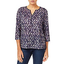 Dash - Etched Diamond Print Blouse