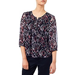 Dash - Diamond Print Blouse