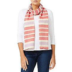 Dash - Yarn Dyed Coral Stripe Scarf