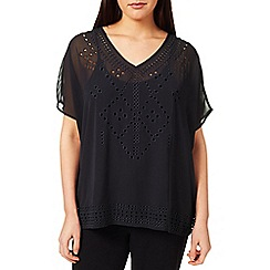 Windsmoor - Black Cutout Detail Top