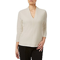 Eastex - Raised V Neck Textured Top