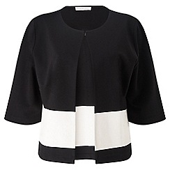 Jacques Vert - Block Striped Crop Jacket