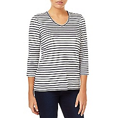 Dash - Textured Stripe Navy & White