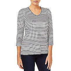 Dash - Textured Stripe Navy & White