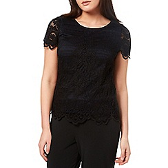 Windsmoor - Black And Oyster Lace Top