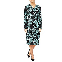 Eastex - Linear Floral Jersey Dress