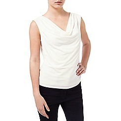 Precis - Ivory Cowl Neck Top