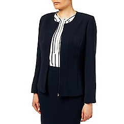 Eastex - Zip Front Round Neck Jacket