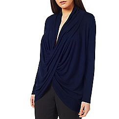 Windsmoor - Navy Drape Front Top