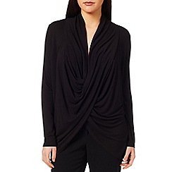 Windsmoor - Black Drape Front Top