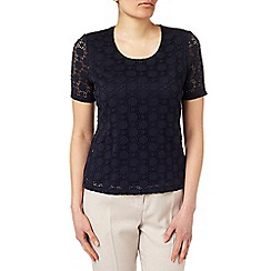 Eastex - Circle Lace Scoop Neck Top