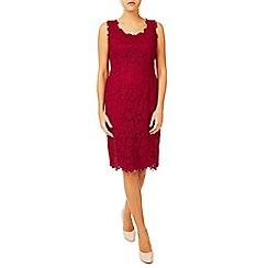 Jacques Vert - V Neck Lace Midi Dress