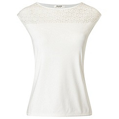 Precis - Ivory Crochet Yoke Detail Top