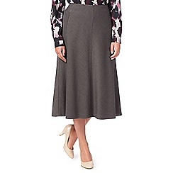 Eastex - Grey Melange Pencil Skirt