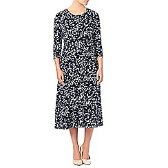 Eastex - Monotone Print Midi Dress