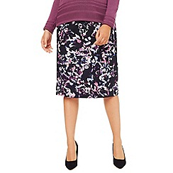 Eastex - Cascading Blooms Pencil Skirt