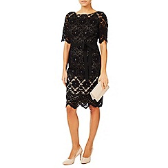 Jacques Vert - Lace Contrast Shift Dress