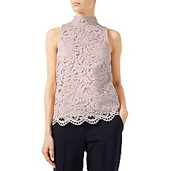 Jacques Vert - Lace High Neck Top
