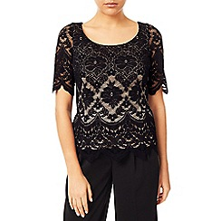 Jacques Vert - Lace Contrast Jersey Top