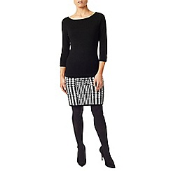 Precis - Lacy Houndstooth Knitted Dress