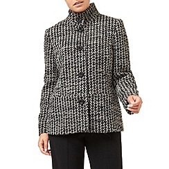 Eastex - Funnel Neck Jacquard Coat