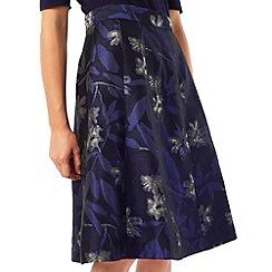 Precis - Jeff Banks Blue Jacquard Skirt
