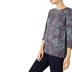 Dash - Woven Rose Button Side Top