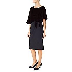 Jacques Vert - Velvet Satin Crepe Dress