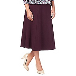 Eastex - Aubergine Ponte Skirt Shorter