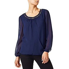 Precis - Stacey Beaded Neck Blouse