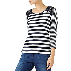 Dash - Stripe Top With Lace Trim