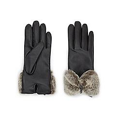 Jacques Vert - Bow Faux Fur Leather Glove