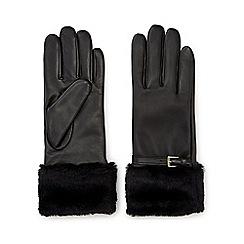 Jacques Vert - Faux Fur Buckle Leather Glove