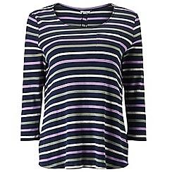 Dash - Stripe Jersey Woven Top