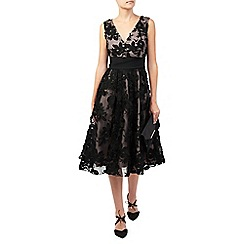 Jacques Vert - Floral Applique Prom Dress