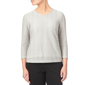 Eastex Two Tone Textured Jersey Top