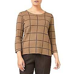 Eastex - Camel Check Knitted Jumper