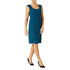 Jacques Vert - Side Pleat Crepe Dress