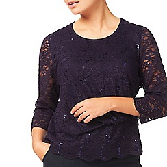 Eastex - Sequin Lace Top