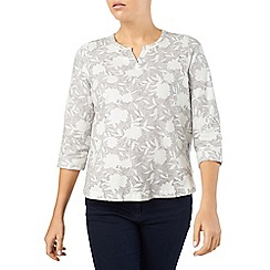 Dash - Printed Jersey Notch Neck Top