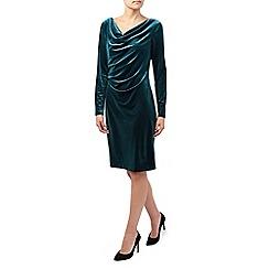 Jacques Vert - Long Sleeve Velvet Cowl Dress