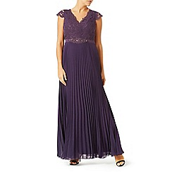 Jacques Vert - Pleated Embellished Maxi Dress