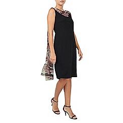 Jacques Vert - Printed Drape Cape Dress