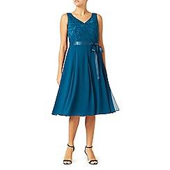 Jacques Vert - Cutwork Belted Dress