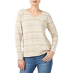 Dash - Texture stripe knit top