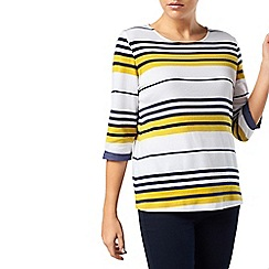 Dash - Chartreuse Stripe Jersey Top