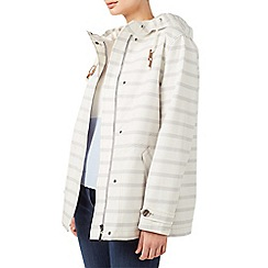 Dash - Light cream stripe rain parka