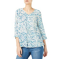 Dash - Modern bloom print blouse